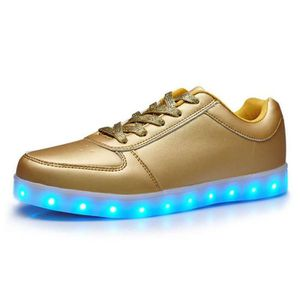 BASKET Chaussure LED Lumineuse 7 Couleur Unisexe Homme Fe