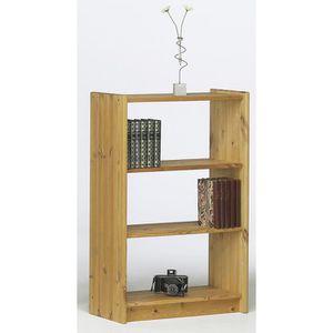5e1f320b13c968 BIBLIOTHÈQUE Bibliothèque avec 3 étagères en pin massif coloris