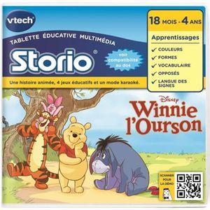 JEU CONSOLE ÉDUCATIVE VTECH Jeu Educatif Storio Winnie l'Ourson