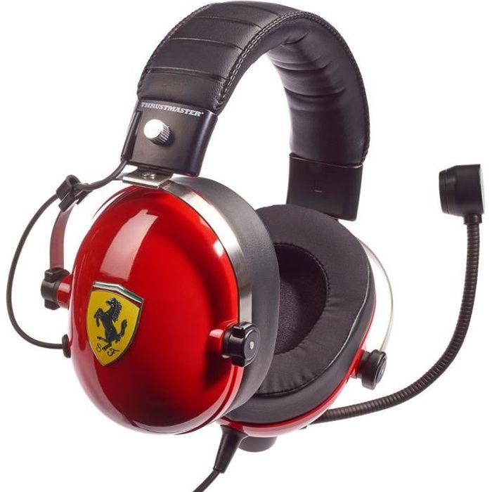 CASQUE AVEC MICROPHONE THRUSTMASTER Casque gaming T.Racing Scuderia Ferra