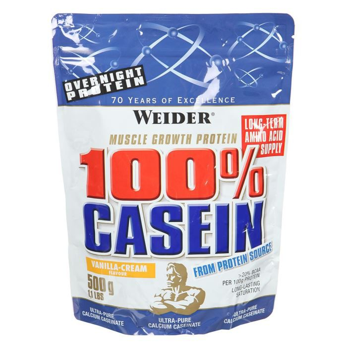 WEIDER Sachet de Day & Night Casein Vanille 500g