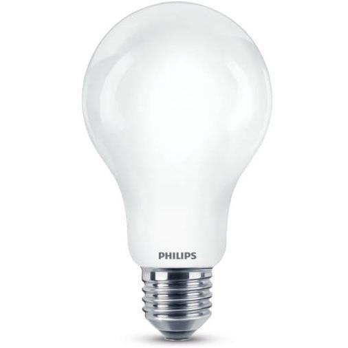 PHILIPS Ampoule LED en verre - forme Standard E27 - 11 - 5W équivalent 100W blanc légèrement chaleureux