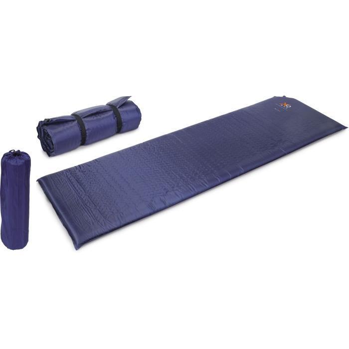 Gonflable - Dimensiosn: 186 x 55 x 0,5 cm - Fabriqué en polyester recouvert en PCS - Bleu foncéTAPIS DE SOL - AUTOGONFLANT