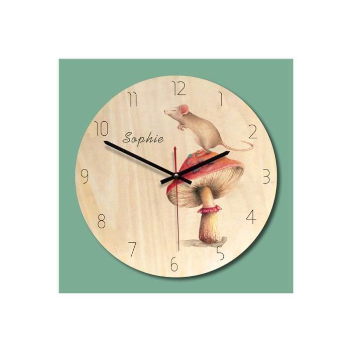 Horloge murale en bois de conception moderne ronde pour Home Decor ...