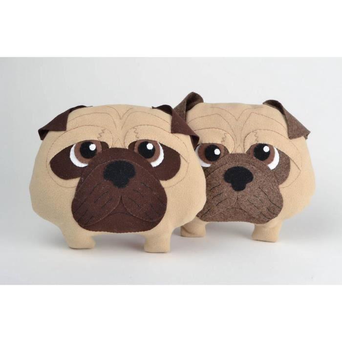 Coussin en forme de chien carlin amusant original achat - Objet decoratif original ...