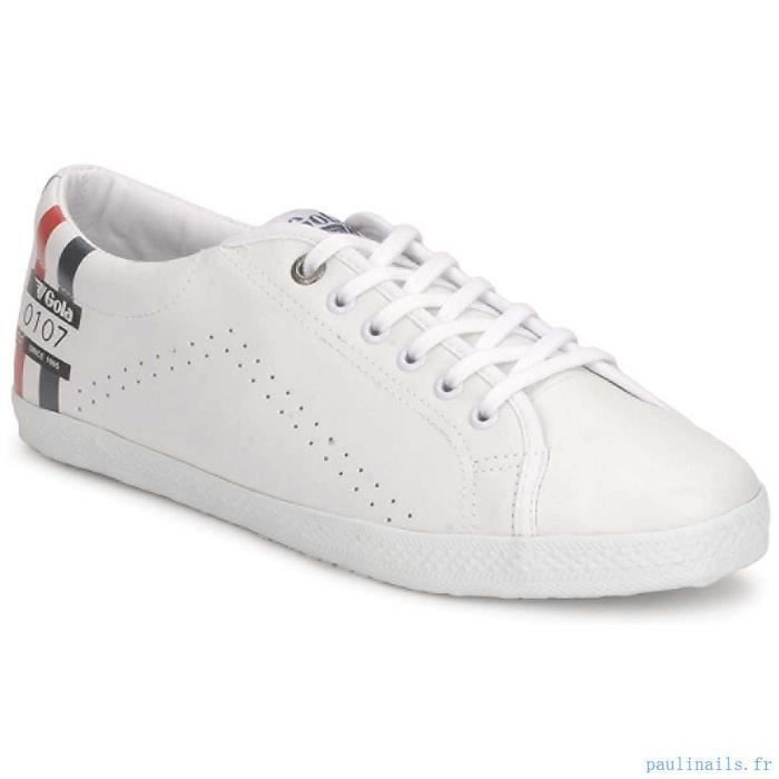 Chaussure Basse Gola Relay medal Cuir White black Red Navy Homme Pointure 44