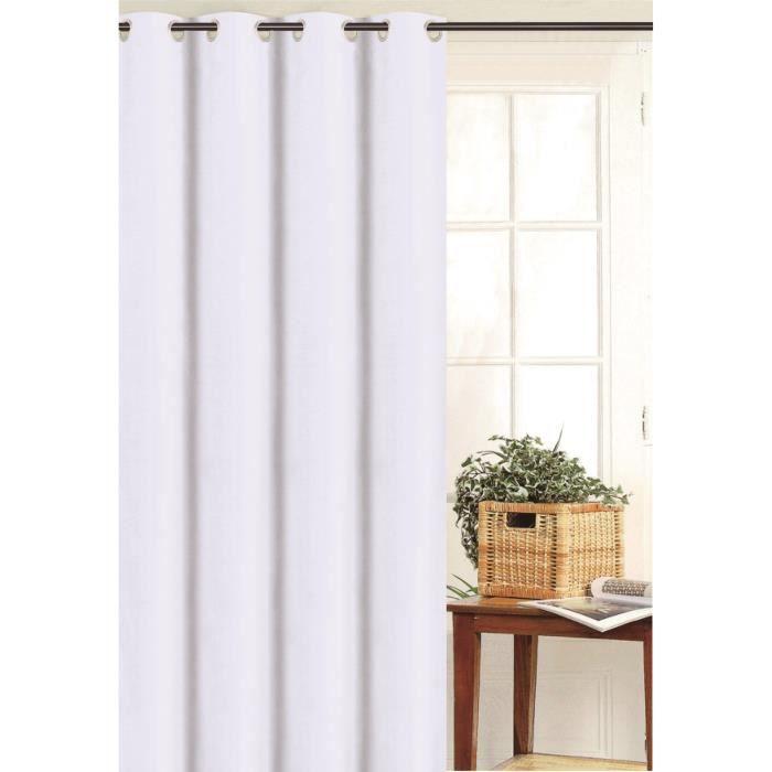 Double rideau blanc occultant - Achat / Vente pas cher