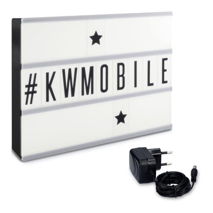 Exceptionnel kwmobile Boîte lumineuse cinéma LED A4 - 105 Lettres caractères  AM12