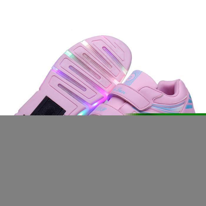 Nouveau Enfant Jazzy Heelys Junior Filles-Garçons LED Lumière Heelys Patin À Roulettes Enfants Sneakers Avec Roues Simples