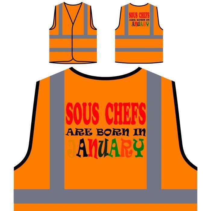 Haute Nommés À Veste Personnalisée sous De Sont Protection En Chefs Orange Pers Funny Janvier Visibilité SrvqWfXvw