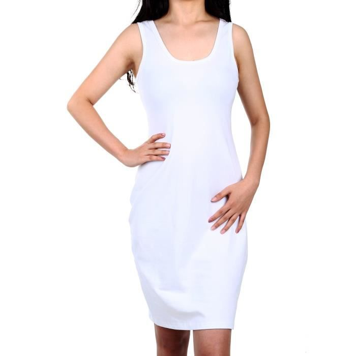 467671313dee0 Women's Sleeveless Bodycon Tank Midi Dresses Scoop Neck Slim Fit ...