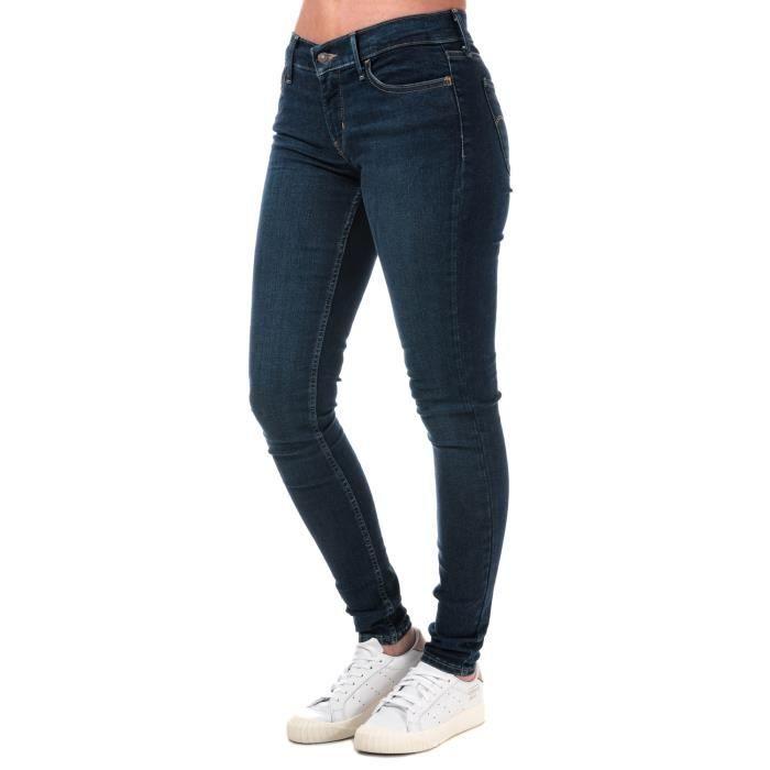 cbbd4a5d3a1 Jean super skinny Levi s 710 Innovation pour femme en bleu denim ...