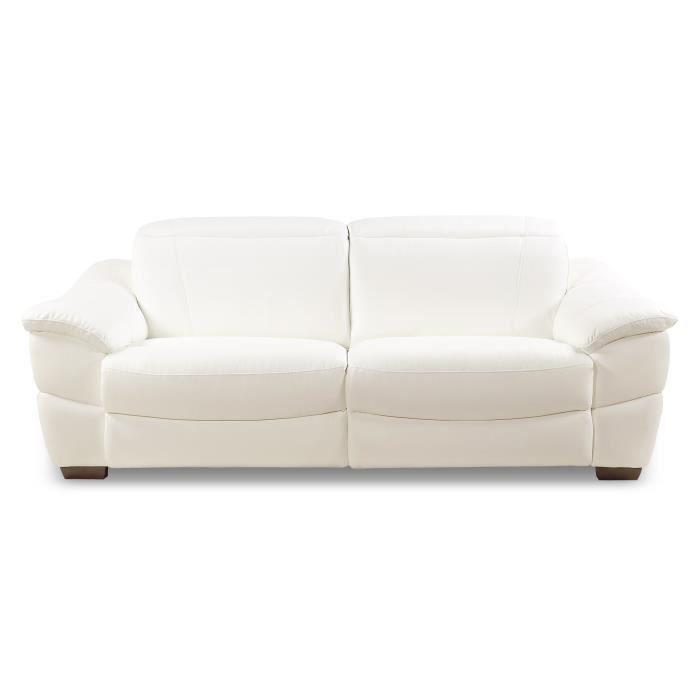 6d5051f1d86b96 Canape simili cuir blanc - Achat   Vente pas cher