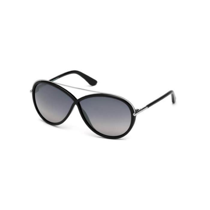 Lunettes de soleil Tom Ford FT0454 01C noir brillant - gris miroité