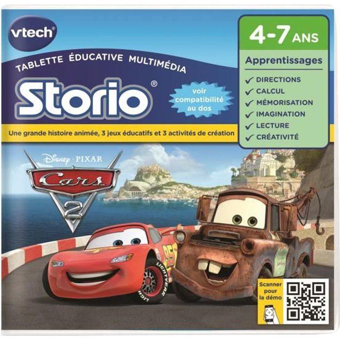 TABLETTE ENFANT VTECH Jeu pour Storio 2 : Cars 2