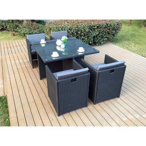 Table de jardin noire 2 personnes - Achat / Vente Table de jardin ...