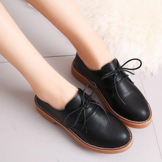 Pour En Cuir Mode Femme Cheville Plat Dames Chaussures Casual Frandmuke602 Bottes Court qCTdXx