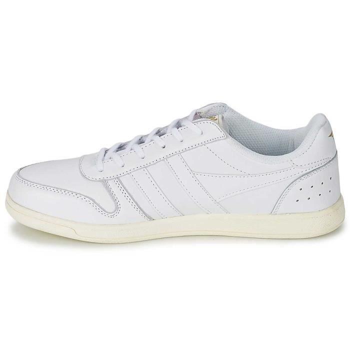Chaussure Basse Baskets Gola Stadia Cuir Blanc Homme Pointure 43