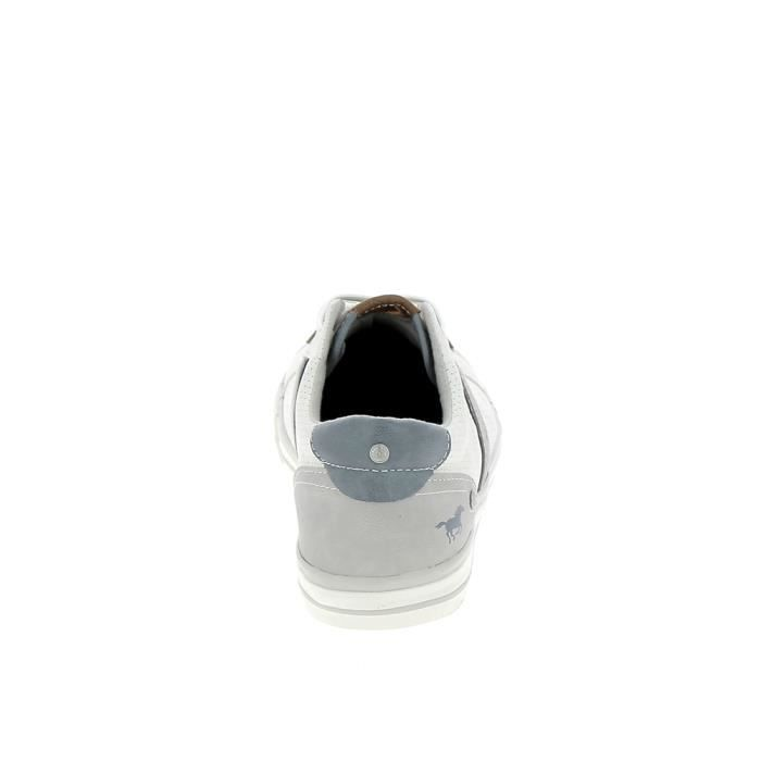 ville MUSTANG Blanc 4072301 Sneakers de Chaussure R8Exqax
