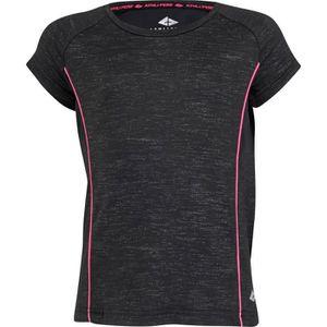 T-SHIRT MAILLOT DE SPORT ATHLI-TECH T-shirt Eliah - Enfant fille - Noir et