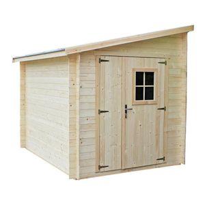 ABRI JARDIN - CHALET EKJU Abri bois emboîté en pin FSC - 5,20 m² - 210x