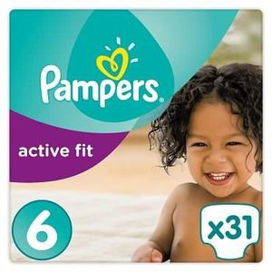 COUCHE PAMPERS Active Fit Taille 6 - 15kg et plus - 31 co