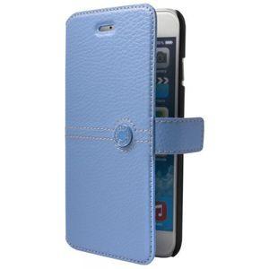 FACONNABLE Etui folio pour iPhone 6 - Laqué Bleu