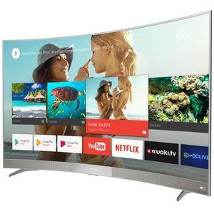 THOMSON 55US6106 TV LED 4K UHD 139 cm (55'') - Ecran incurvé - Android TV - Barre de son intégrée - 3 x HDMI - Classe énergétique A+