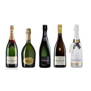 CHAMPAGNE Lot Découverte de 5 Champagnes Brut 75cL