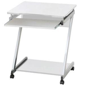 MEUBLE INFORMATIQUE Table Informatique Roulant Bureau d' Ordinateur Po