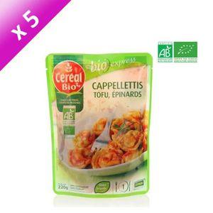 PLAT LÉGUMES - FÉCULENT CEREAL BIO Cappelletti Tofu-Epinard Bio - 220 g x5