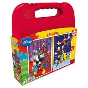 PUZZLE EDUCA - Malette Puzzles MICKEY 2x20pcs