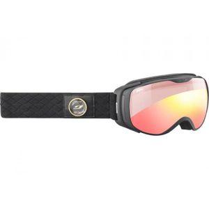 6aa7e5610cc7a4 Masque de ski pour femme JULBO Noir LUNA Noir - Zebra Light Red ...