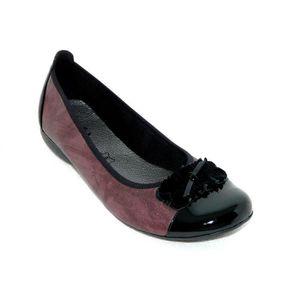 Chaussures Confort Cuir Femme Ballerines Achat VioletViolet IYmf6yv7bg