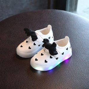BASKET Enfants Toddler Bowknot enfants bébé coeur chaussu