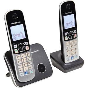 Téléphone fixe PANASONIC Téléphone résidentiel dect - TG6812 - Du