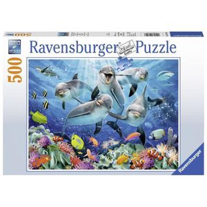 PUZZLE Puzzle 500 pièces Dauphins dans la Barrière de Cor