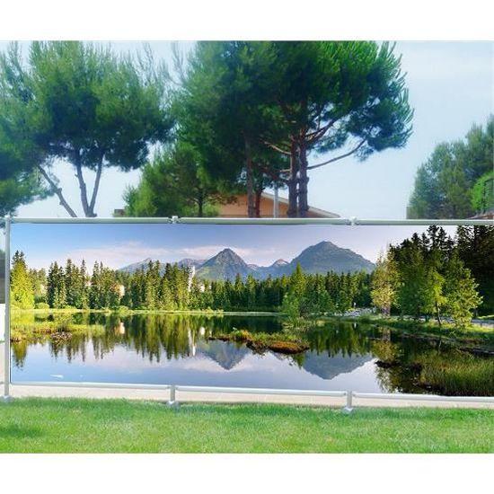 Brise vue, jardin, terrasse, balcon déco Lac Occultation - 80 ...
