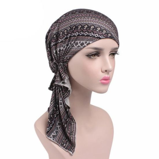 site réputé f55c9 d5a69 Chapeau Doux Turban Foulard Islamique Bonnet Chimio Perte de Cheveux Cancer