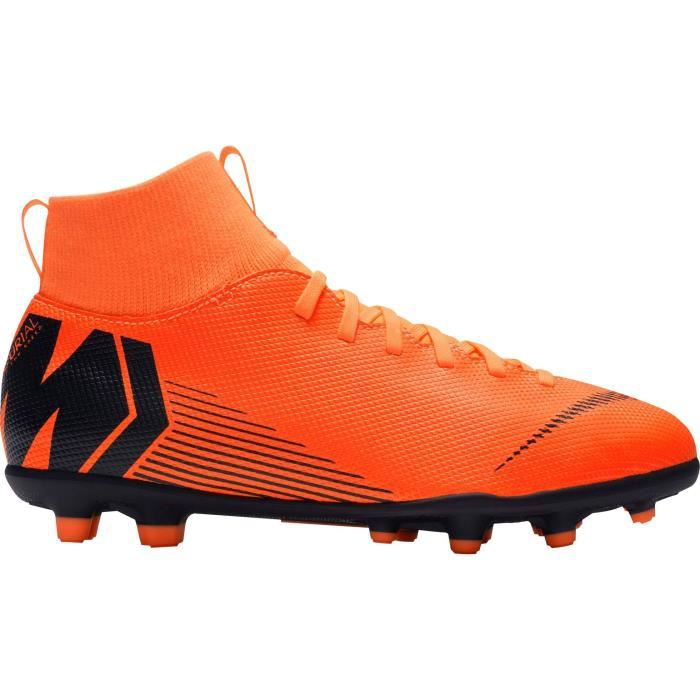 new style 83769 3222e NIKE Chaussures de football Mercurial Superfly 6 Club - Enfant - Noir et  orange