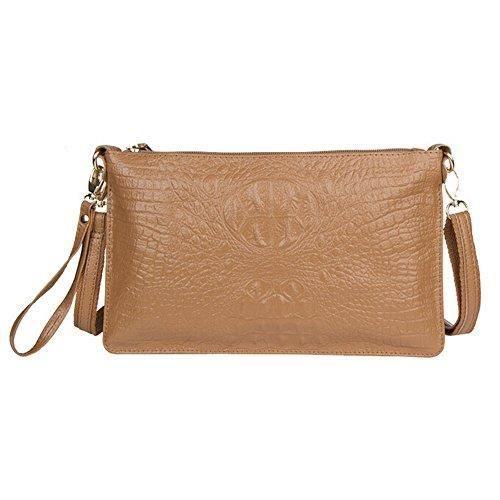 Véritable sac à main en cuir pour femmes embrayage sac à bandoulière alligator bandoulière WLKU6