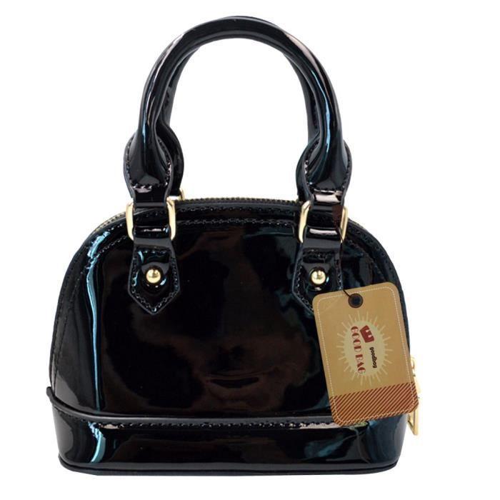 mode fourre-tout sac à main en cuir verni mini embrayage épaule sacs ETT1K