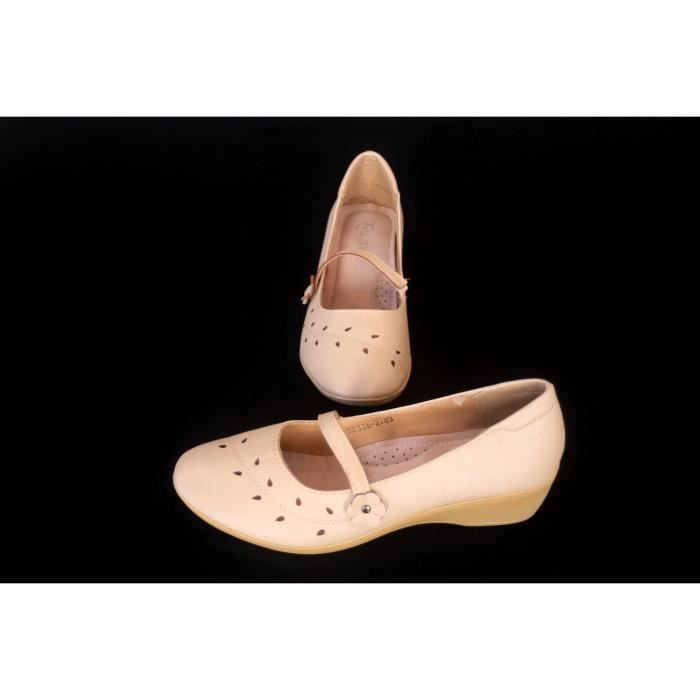 Chaussures femme Beige Confort Taille 40