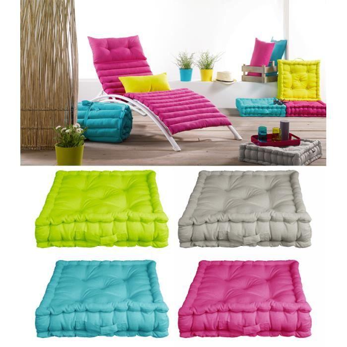 coussin de sol garni 45 x 45 cm x 10 cm pac achat vente coussin matelas de sol. Black Bedroom Furniture Sets. Home Design Ideas