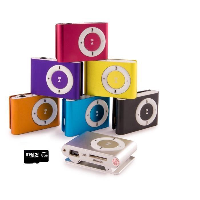LECTEUR MP3 gNg Noir Mini lecteur MP3 player Clip pour la cour