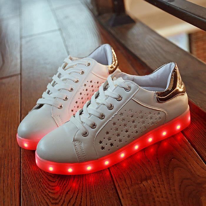 baskets-Femmes de recharge USB lumière lumineuse émettant chaussures chaussures chaussures lumières baskets LED xB1JVX