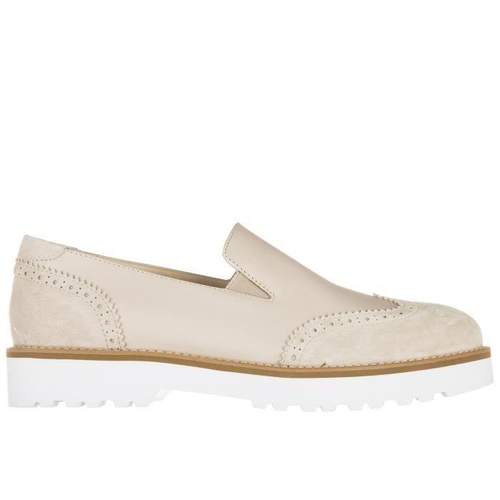 Slip on femme en cuir sneakersh259 route pantofola Hogan