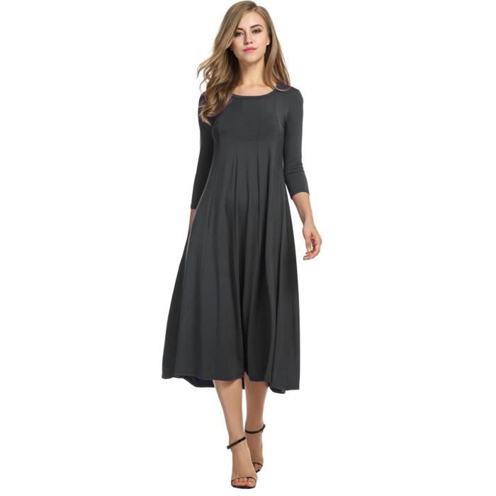 Robe Femme 3-4 Manche Casual Loose
