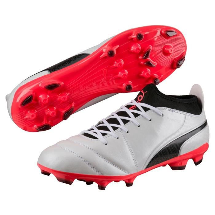 Chaussures de foot blanches homme Puma One 17.3 FG | Espace