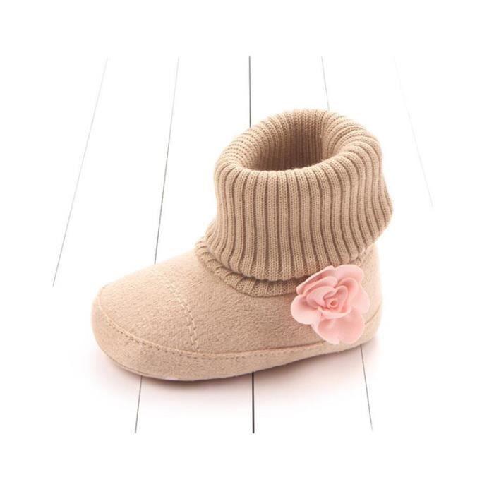 Chaussures bébé Infant Kid Fille douce Sole Toddler Bottes BRUN KORCLOTHES® aFBbXZp0